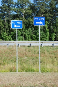 Areas just for pets along the highway.  Photo source:  Joe Shlabotnik